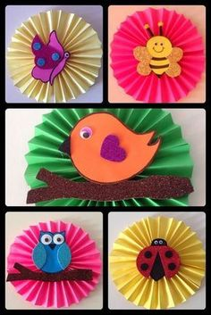 - Spring Crafts For Kids Kids Crafts, Spring Crafts For Kids, Creative Crafts, Preschool Crafts, Art For Kids, Diy And Crafts, Arts And Crafts, Paper Crafts, Art N Craft