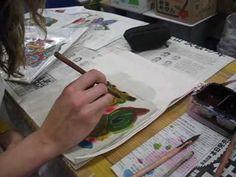 Making a Shisaa Bingata at the Okinawa Cultural Center in Naha