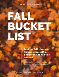 Here's a free bucket list of fall activities, recipes and movies. Fill your autumn calendar with tons of things to do this fall! Stuff To Do, Things To Do, Movie Titles, Best Seasons, Lists To Make, Autumn Activities, Clean Eating Recipes, Real Food Recipes, Holiday Recipes
