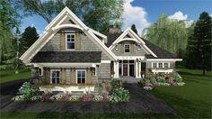 three-bedroom craftsman house plan