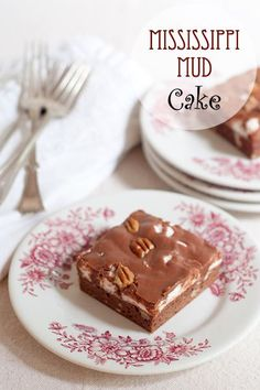 Mississippi Mud Cake from /NevrEnoughThyme/ http://www.lanascooking.com/mississippi-mud-cake/ #chocolate