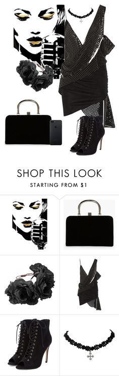 """Velvet"" by chrissy-50 ❤ liked on Polyvore featuring Boohoo, Rock 'N Rose and Anthony Vaccarello"