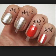Short nail beds don't offer much space for complex nail art, so simple designs are easier to create. Consider an easy stripe:   21 Adorable Manicure Ideas For Short Nails