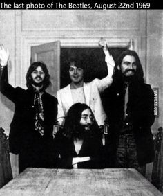 Last picture taken of The Beatles August 22, 1969