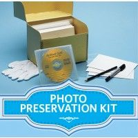Photo Preservation Kit: archival storage products from Gaylord Bros. plus simple instructions for labeling, digitizing and preserving your old family photographs