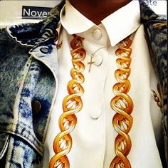 My favourite shirt, necklace, jacket.