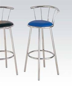 Shop 2 Acme Furniture Cucina Blue Swivel Bar Chairs with great price, The Classy Home Furniture has the best selection of Counter Height / Bar Stools to choose from