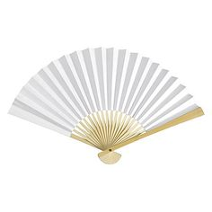 Asian White Paper Hand Fans