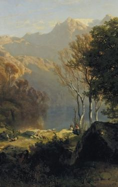 Alexandre Calame (Vevey, Switzerland 1810-1864 Menton, France), Lake Lucerne, 1851,