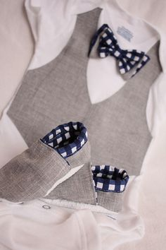 Baby boy shirt, bow tie shirt, Baby boy photo prop, Blue and gray baby boy shirt on Etsy, $37.99