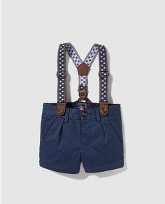Bermuda de bebé niño Tizzas en azul con tirantes Moda Online, Michael Kors Hamilton, Boy Fashion, Short Dresses, Rompers, Outfits, Women, Style, Ideas