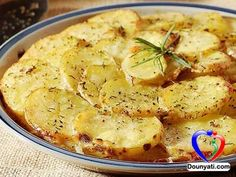 دنيتي | المطبخ | اليك سيدتي طريقة عمل بطاطا مشوية بجبنة الوزاريلا بالفرن مع المكونات و المقادير من مطبخ دنيتي