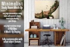 Study Room Poster Mockup @creativework247