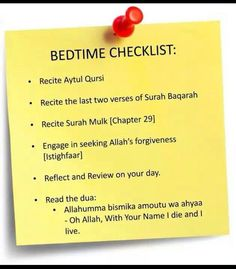 Bed Time Checklist ✔️