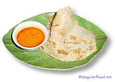 Roti Canai served with favorite Malaysian Curry Sauce