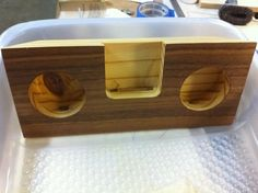 Wood iPhone Dock/Amplifier--No Speakers
