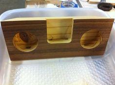 Wood iPhone Dock/Amplifier--No Speakers