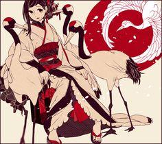 鶴はあつまり花をたたえる