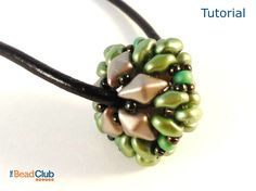 Beaded Bead Tutorial - SuperDuo Bead Patterns - Two Hole Beads - Beading Patterns and Tutorials - Beadweaving Tutorials - DIY Jewelry - PDF by TheBeadClubLounge on Etsy