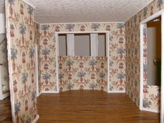 More Minis @ Blogspot: Dollhouse Wallpapering Guide