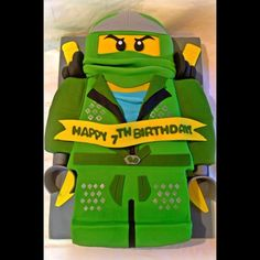 Lego Ninjago Cake! French vanilla cake with...