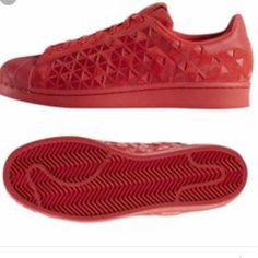 reputable site c29f8 63306 adidas Shoes   Red Adidas Superstar Reflective   Color  Red   Size  5