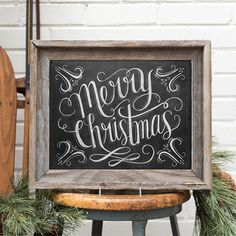 "This traditional ""Merry Christmas"" design features elegant hand lettering with flourish illustrations. The print would be a perfect addition to your holiday decor or party. Merry Christmas, Christmas Time Is Here, Primitive Christmas, Christmas Signs, Little Christmas, Country Christmas, Christmas Projects, Winter Christmas, Holiday Crafts"