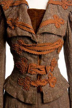 tweed suit, c. 1895.