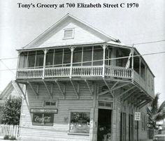 Key West 1970 - Tony's Grocery, 700 Elizabeth Street.