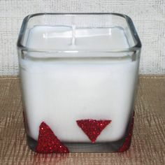 Bayberry Soy Square Container Candle Eco by DancingWindDesigns