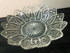Vintage 8 Federal Glass clear Petal pattern 2829 by kitschannette