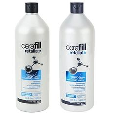 Bundle of Two Items: Redken Cerafill Retaliate Stimulating Shampoo and Conditioner Duo for Thinning Hair (1 Liter Each) by Cerafill >>> Learn more by visiting the image link. #hairnourishing