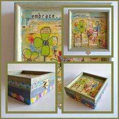 Színes, vidám, vagány hippivirágokkal és motívumokkal díszített dobozka. Tökéletes ajándék! 11 x 11 x 4 cm 2,300 Ft