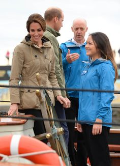Kate Middleton Photos Photos - Catherine, Duchess of Cambridge smiles on the tall ship, Pacific Grace, before sailing with members of the Sail and Life Training Society at Victoria Inner Harbour on the final day of their Royal Tour of Canada on October 1, 2016 in Victoria, Canada. The Royal couple along with their Children Prince George of Cambridge and Princess Charlotte are visiting Canada as part of an eight day visit to the country taking in areas such as Bella Bella, Whitehorse and…