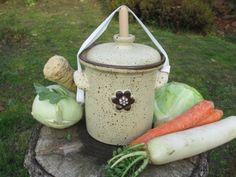 Kvašák 1,5 l s kytičkou kvašák pickles zelenina zdraví kvašení Watering Can, Jar, Canning, Home Canning, Jars, Glass, Conservation