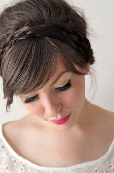Braided Headband, Very Pretty with Side Fringe!