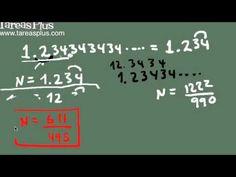 Convertir decimales periódicos en fracciones Decimal, Marketing, Math Equations, Ideas, Fractions, Finance, Journaling, Studio