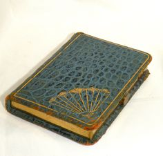 "Vintage Art Deco ""Pendennis"" Snakeskin ""Book"" Shaped Compact"