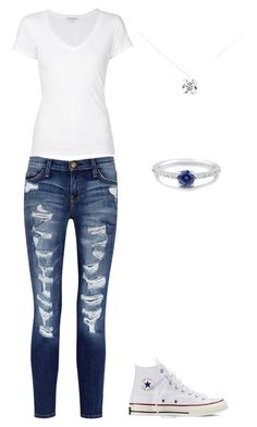 """Bez naslova #26"" by lejla-haskic ❤ liked on Polyvore featuring Current/Elliott, James Perse, Converse, Tiffany & Co., BERRICLE, women's clothing, women's fashion, women, female and woman"