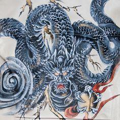 レザージャケット「稲妻龍」 | レザージャケット | 和柄のオリジナルブランド「禅」by京でん