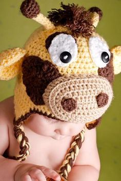 Giraffe crochet hat  Pattern