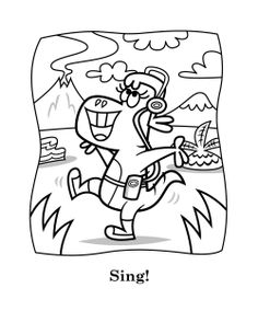 Printable Coloring Sheets Lucy Is Singing