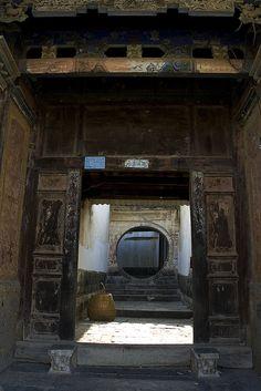 An old courtyard house, Jianshui, Yunnan province. China.