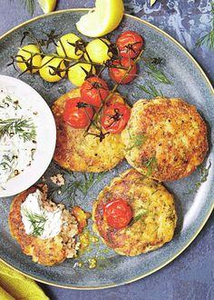 Salmon & Dill Fishcakes (Ultimate Diabetes Cookbook)