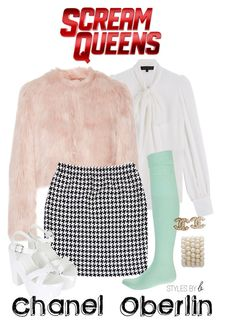 """""""Scream Queens"""" by bryanaellen on Polyvore featuring Barbara Bui, RED Valentino, St. John, Topshop and Chanel"""