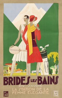 FRANCE Brides-les-Bains LEON BENIGNI (1892-1948) 1929. #GOLF #643X1024V600PI #TENNIS