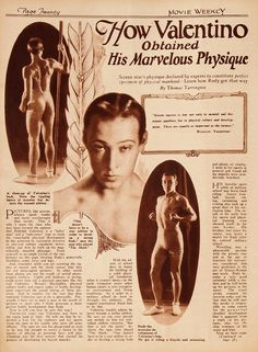Rudolph Valentino Edits This Issue | The Silent Movie Blog