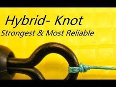 How to tie the strongest & most reliable fishing knot. A hybrid Clinch & Palomar knot with added security of a double overhand created the strongest and most reliable fishing knot. Step by step close-up instructions with tips & tricks in HD. Fly Fishing Knots, Fishing Rigs, Gone Fishing, Best Fishing, Trout Fishing, Fishing Boats, Fishing Stuff, Surf Fishing, Strongest Fishing Knots