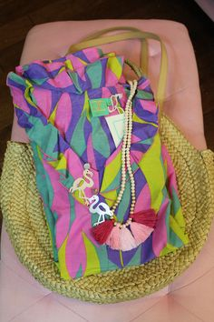 Check out my Instagram to enter this fabulous GIVEAWAY!  This is the perfect summer starter kit! This dress is amazing and colorful. This purse/tote is the essential summer bag! Not to mention this jewelry! You can easily dress up any outfit with this fun pink ombré tassel necklace, or these adorable flamingo earrings!   Follow me on Instagram @stylinbrunette