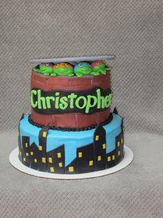 Teenage Mutant Ninja Turtles themed cake